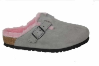 Birkenstock Boston Lammf. grey